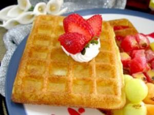 waffles sabayon