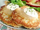 resep pan cake kentang dengan saus apel