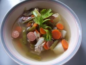resep sup ayam sosis