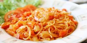 resep spagetti saus Udang
