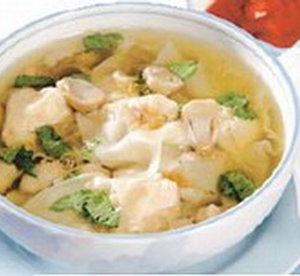 resep sup pangsit