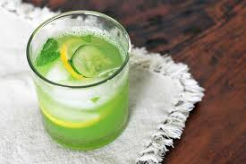 resep cucumber lemon and mint