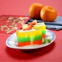 resep puding lapis warna-warni