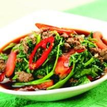 kangkung daging giling
