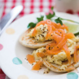 Buckwheat Blinis with Smoked Fish