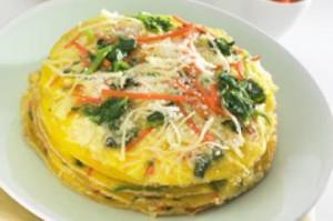 omelete bayam