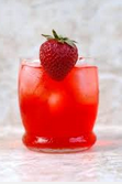 sparkling strawberry ice tea